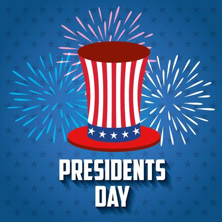 democracia: happy presidents day poster vector illustration design