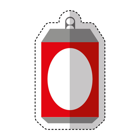Aluminium can isolated icon vector illustration design