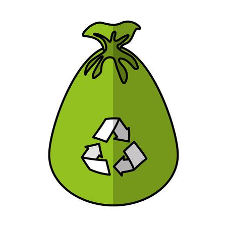 garbage bag isolated icon vector illustration design Illustration