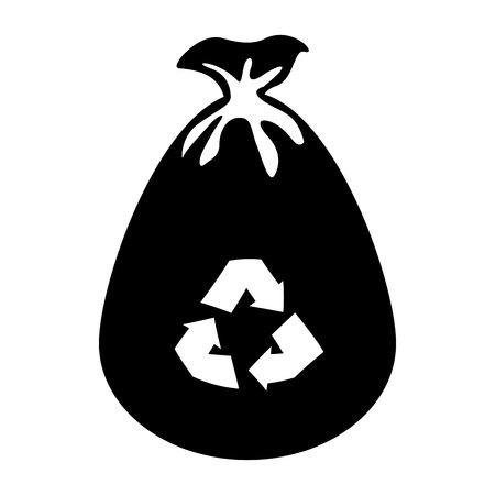 garbage bag: garbage bag isolated icon vector illustration design Illustration