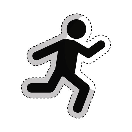 businessperson: businessperson running avatar icon vector illustration design Illustration