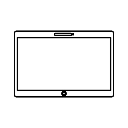electronic device: tablet electronic device icon vector illustration design