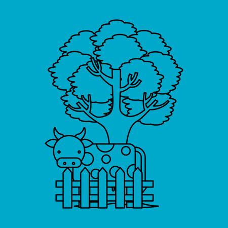 icone: farm fresh cow icon vector illustration design
