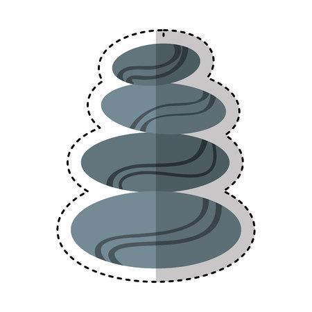 stones treatment spa emblem vector illustration design