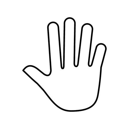 hand human silhouette icon vector illustration design Illustration