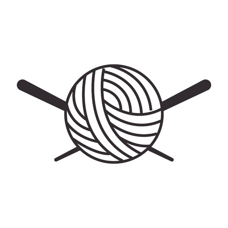 Thread ball and needle icon vector illustration design