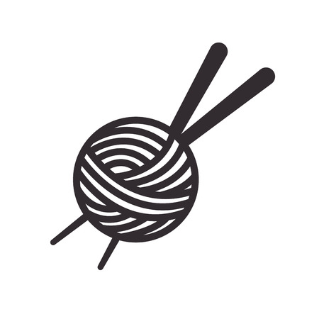 Thread ball and needle icon vector illustration design