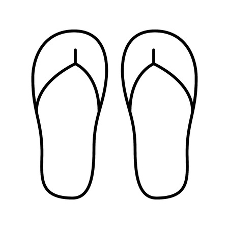 flops: flip flops isolated icon vector illustration design