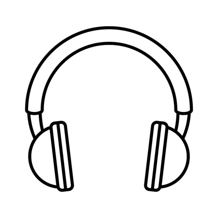 earphones audio device icon vector illustration design