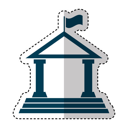 school building isolated icon vector illustration design Illustration