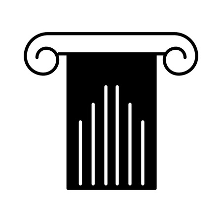 classical theater: roman column isolated icon vector illustration design