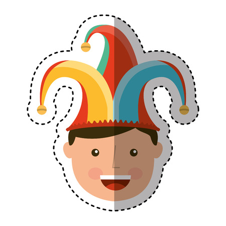 funny joker avatar character vector illustration design