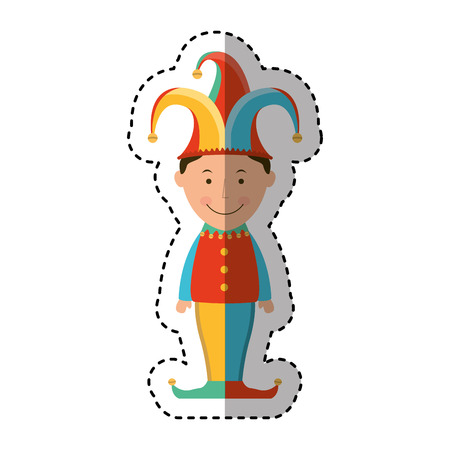 comedian: funny joker avatar character vector illustration design