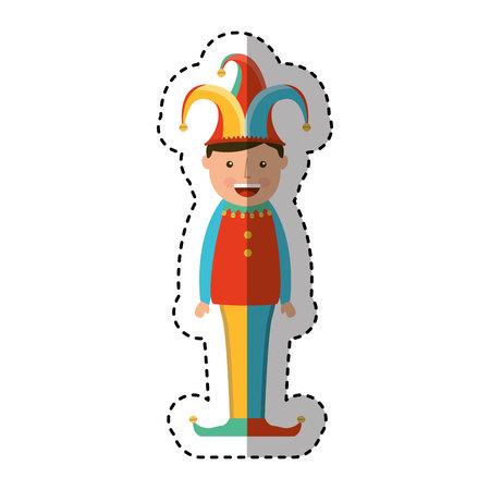 tonto: divertido avatar comodín carácter ilustración vectorial de diseño