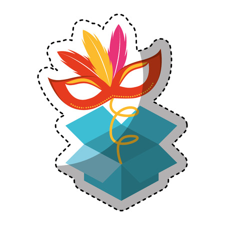 idiot box: surprise box fools day vector illustration design Illustration