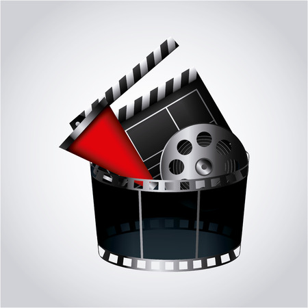 cinema related icons over white background. colorful design. vector illustration