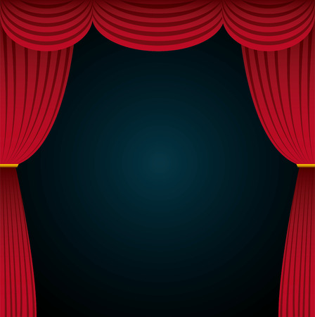 cinema viewing: theatre stage colorful design. vector illustration