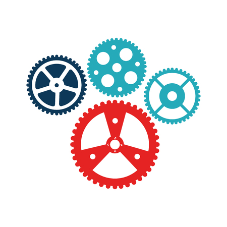 bicycle gears emblem icon vector illustration design Illustration
