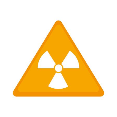 irradiation: biohazard symbol alert icon vector illustration design