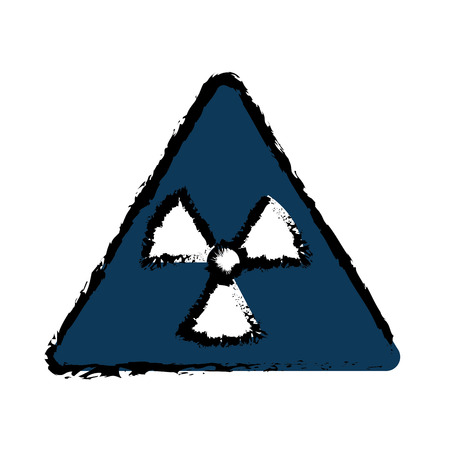 fission: biohazard symbol alert icon vector illustration design
