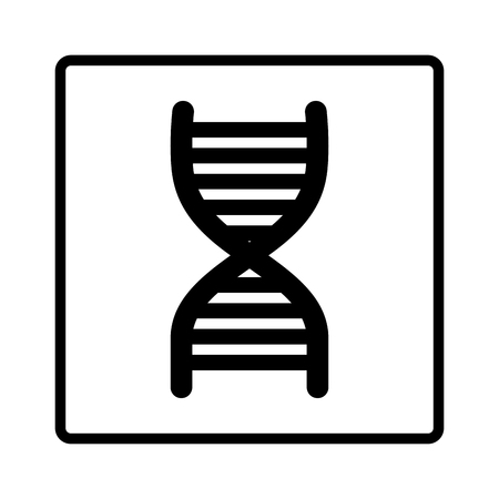 heredity: dna molecule isolated icon vector illustration design