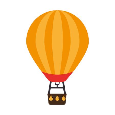 airship: balloon air hot icon vector illustration design