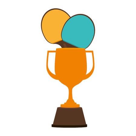 trophy tennis table award vector illustration design