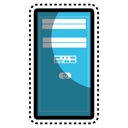 pc case: server tower isolated icon vector illustration design Illustration