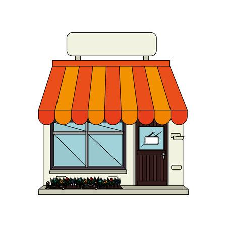 exterior store building icon vector illustration design