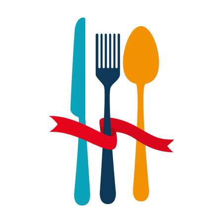 set cutlery tools icons vector illustration design Illustration