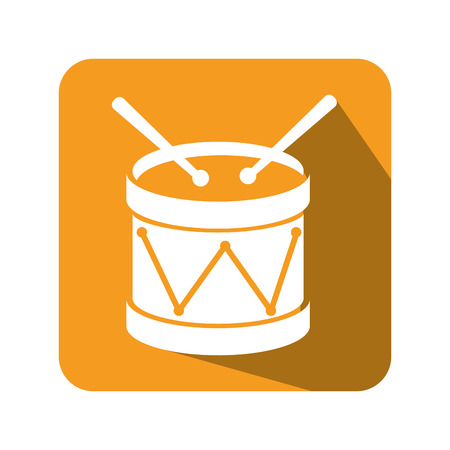 bass drum: drum instrument isolated icon vector illustration design Illustration