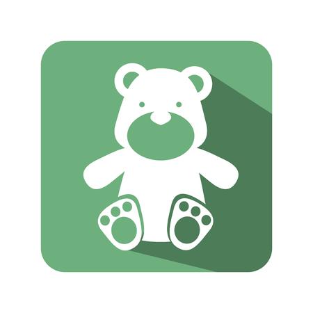 baby bear: bear toy baby icon vector illustration design