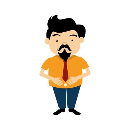 gentleman character hipster style vector illustration design Illustration