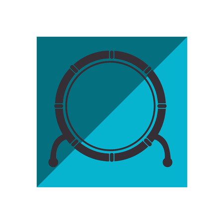 drum instrument isolated icon vector illustration design Illustration