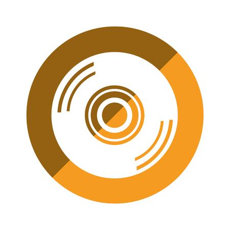 compact disk isolated icon vector illustration design Ilustração