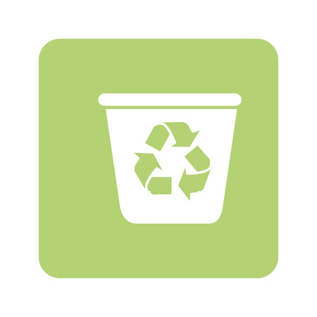 opaque: opaque green background with recycling container vector illustration Illustration