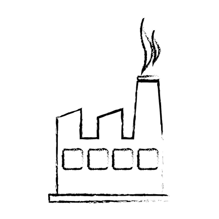 contamination: silhouette sketch blurred factory and smoke contamination vector illustration Illustration