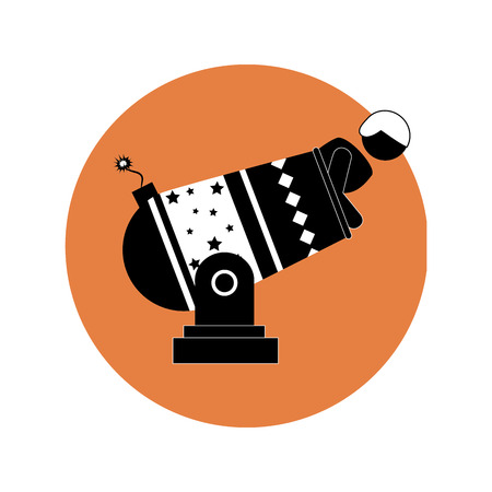 circular silhouette: circular silhouette with human cannonball vector illustration Illustration