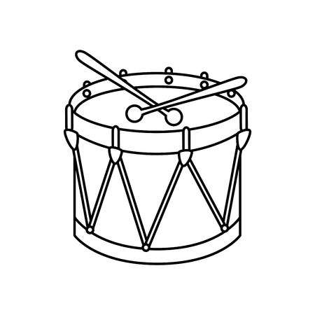 drum instrument isolated icon vector illustration design Illustration