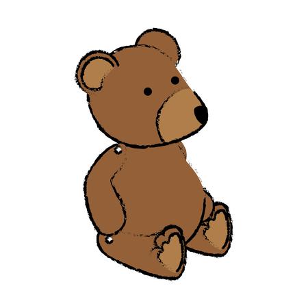 baby bear: bear teddy baby toy icon vector illustration design Illustration