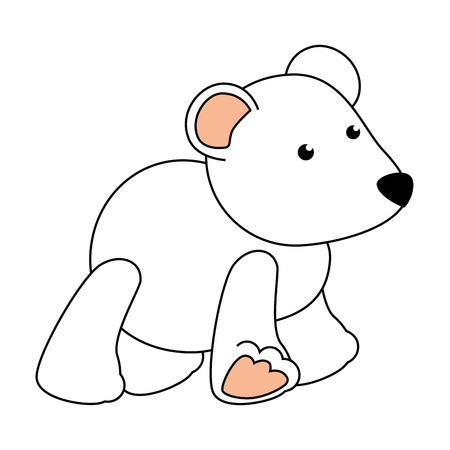 baby bear: cute polar bear teddy baby toy icon vector illustration design Illustration