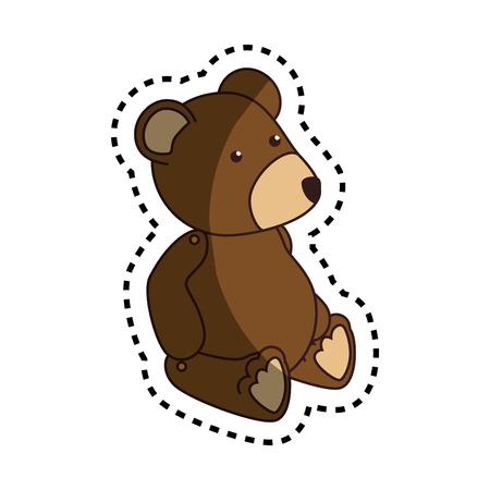 baby bear: bear teddy baby toy icon vector illustration design Stock Photo