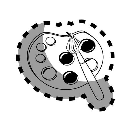pallette: peinture pallette fournitures scolaires icône isolé illustration vectorielle conception Illustration