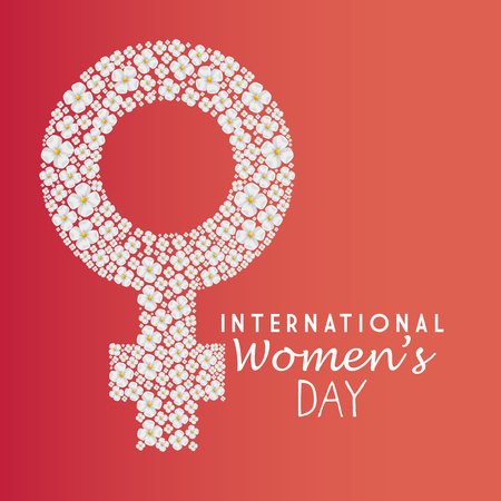 happy womens day card vector illustration design Illustration