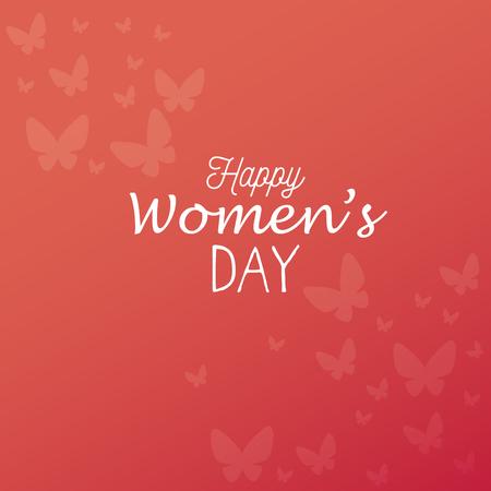 happy womens day card vector illustration design Illustration