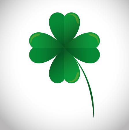 four leafs clover: lucky clover leaf icon vector illustration design Illustration