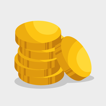 golden coins: golden coins isolated icon vector illustration design