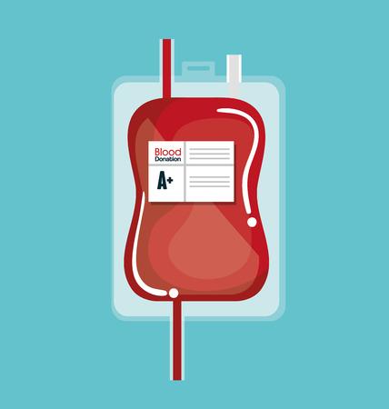 sac de don de sang icone design d'illustration vectorielle