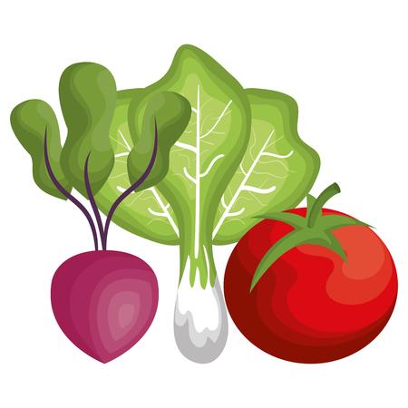 vegatables: healthy and fresh vegetables vector illustration design