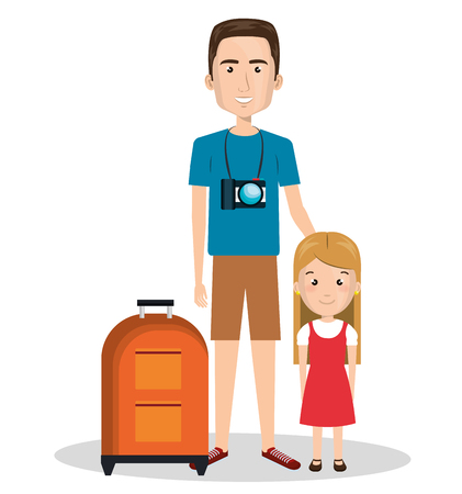 family: family members on vacations vector illustration design